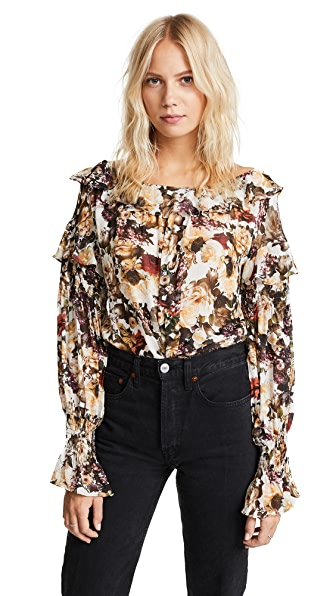 Bailey44 Once Upon A Time Top In Floral Print