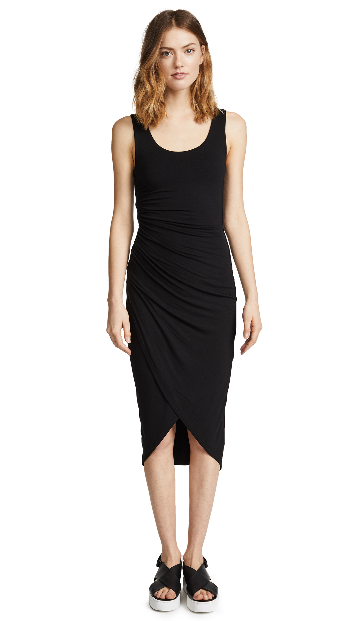 Bailey44 Solid Dishdasha Dress In Black