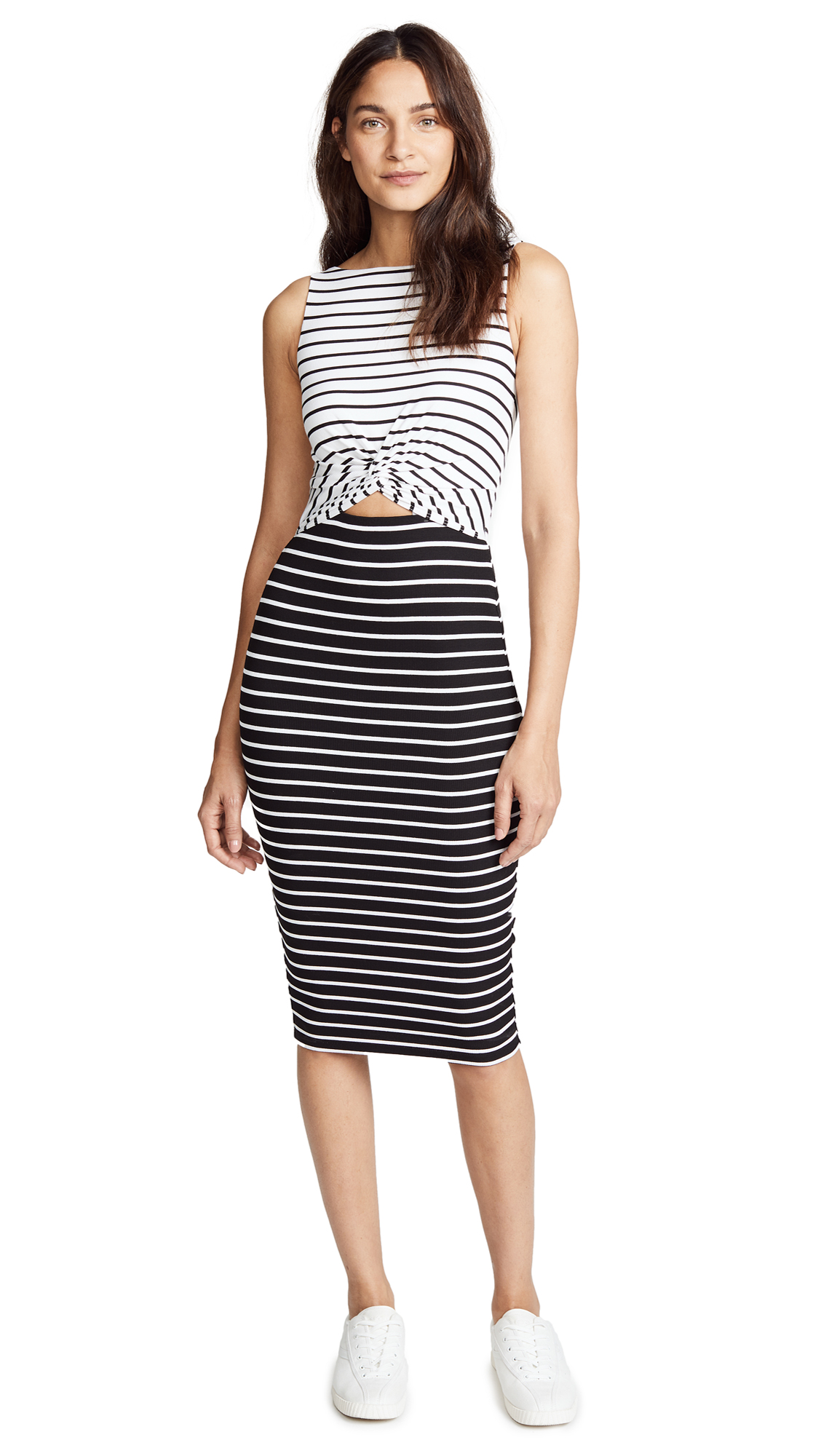 Bailey44 Rabbit Hole Dress In White/Black