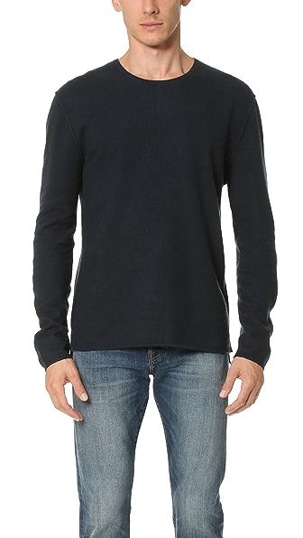 Baldwin Denim Emmett Boiled Wool Crew Sweater