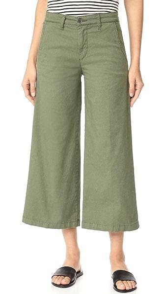 Baldwin Denim Devin Mid Rise Cropped Trousers