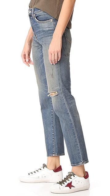 Baldwin Denim Lola High Rise Straight Jeans