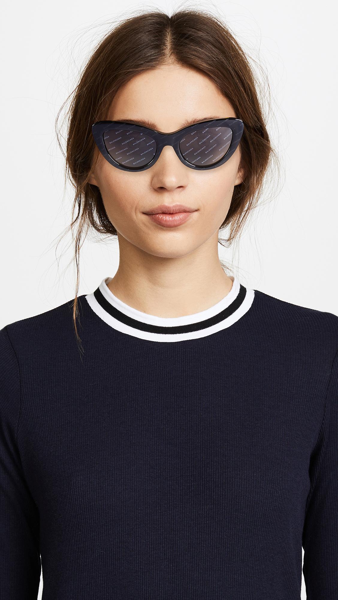 1c5bd5b71e6b Balenciaga Bold Cat Eye Logo Sunglasses | SHOPBOP