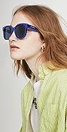 Balenciaga 厚实款超大号方形醋酸纤维塑料太阳镜