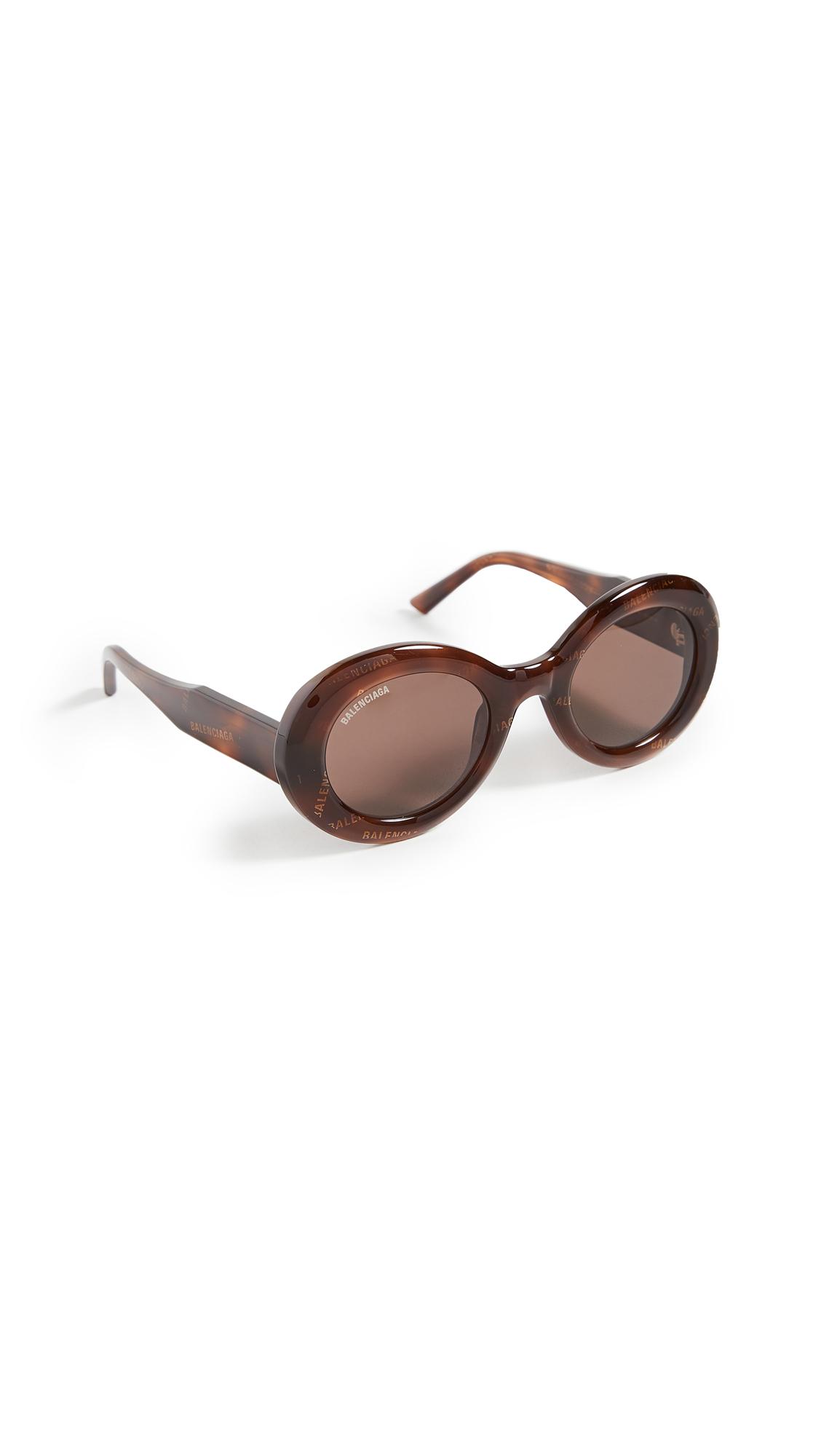 Balenciaga Agent Bold Oval Sunglasses