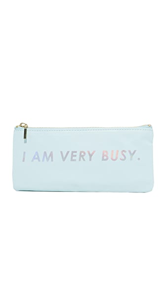 ban.do I Am Very Busy Pencil Pouch - Ice Blue