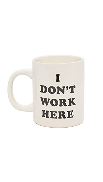 ban.do I Don t Work Here Ceramic Mug - Multi