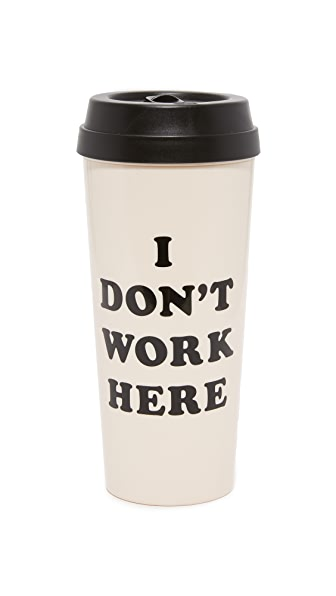 ban.do I Don t Work Here Thermal Mug - Black/White