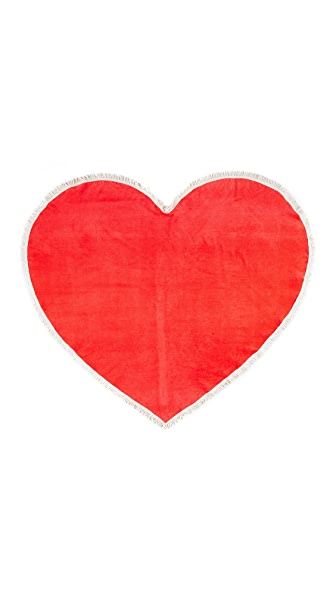 ban.do Sweetheart Giant Heart Towel - Red