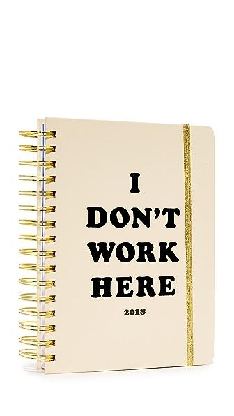 ban.do I Don t Work Here 17 Month 2018 Medium Agenda - Black Multi