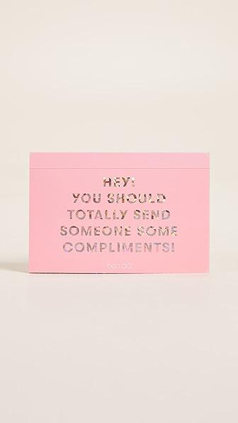 ban.do Compliments Postcard Book