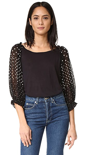 Banjanan Pony Top - Polka Black