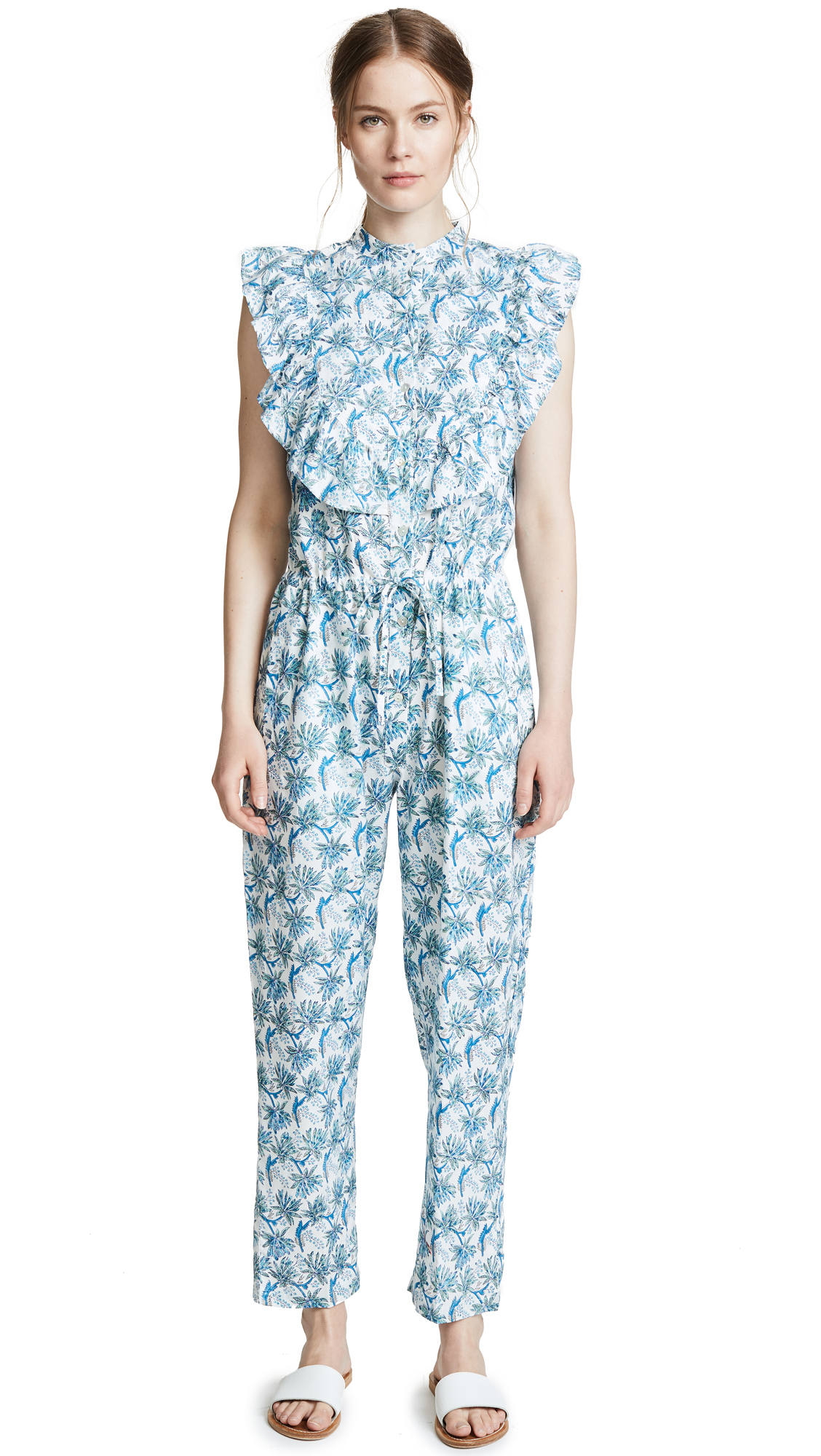 BANJANAN Rose Jumpsuit in Dandelion Cornflower