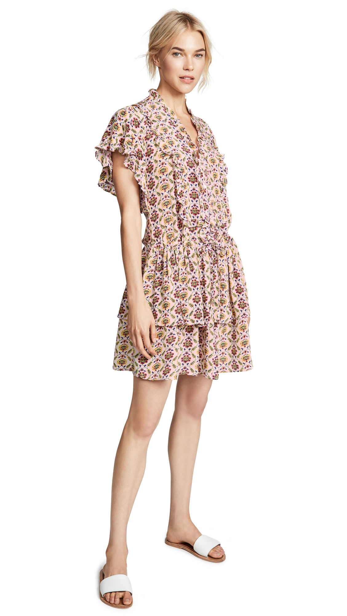 BANJANAN Suki Dress in Benares Tulip Lilac