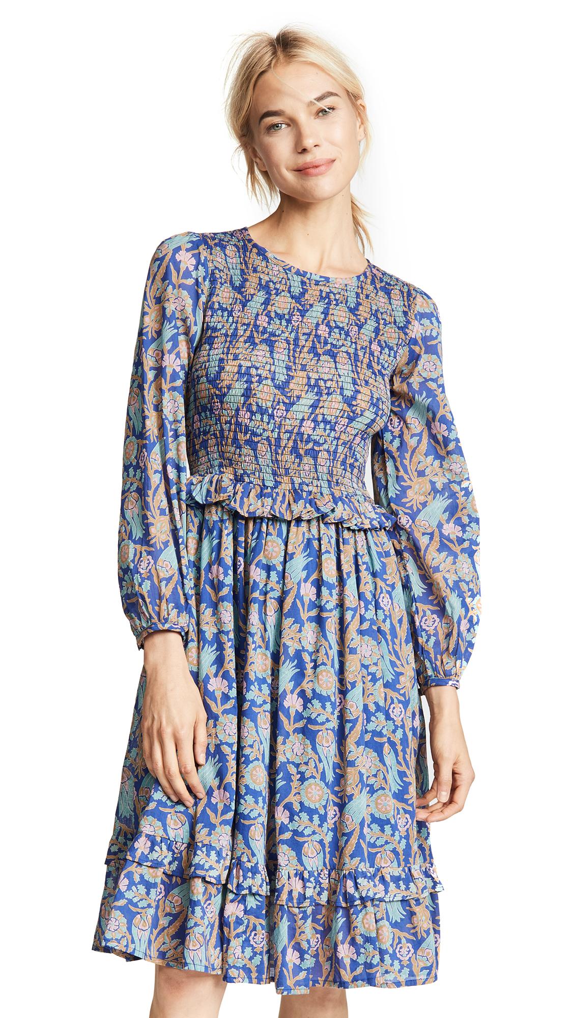 Banjanan Isadora Dress In Orient Flower Blueprint