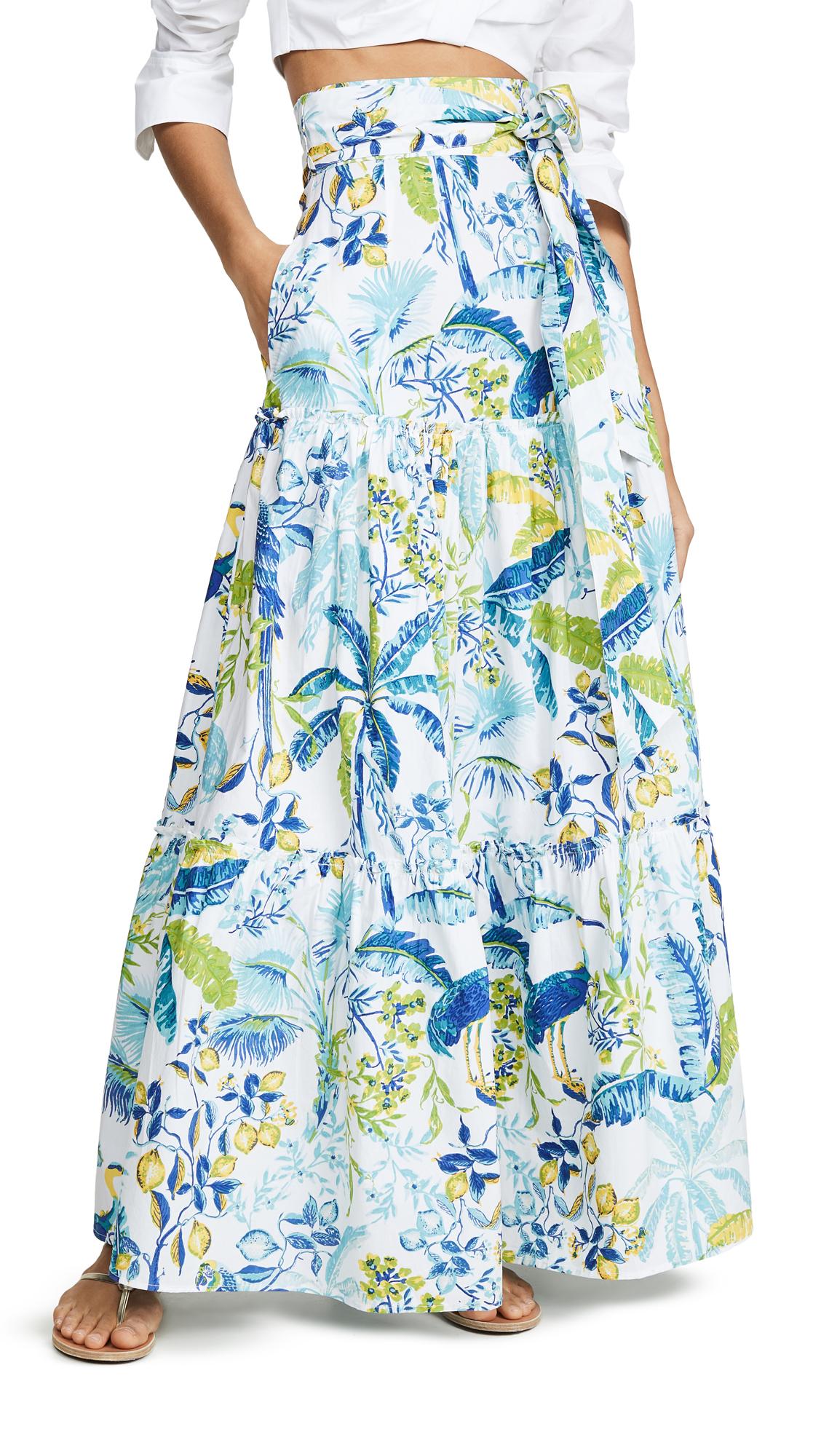 Banjanan Discovery Skirt - Lisbon Garden White