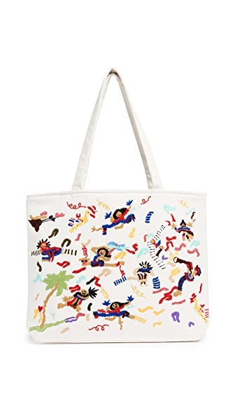 Banner Day Band Scene Tote In Bone