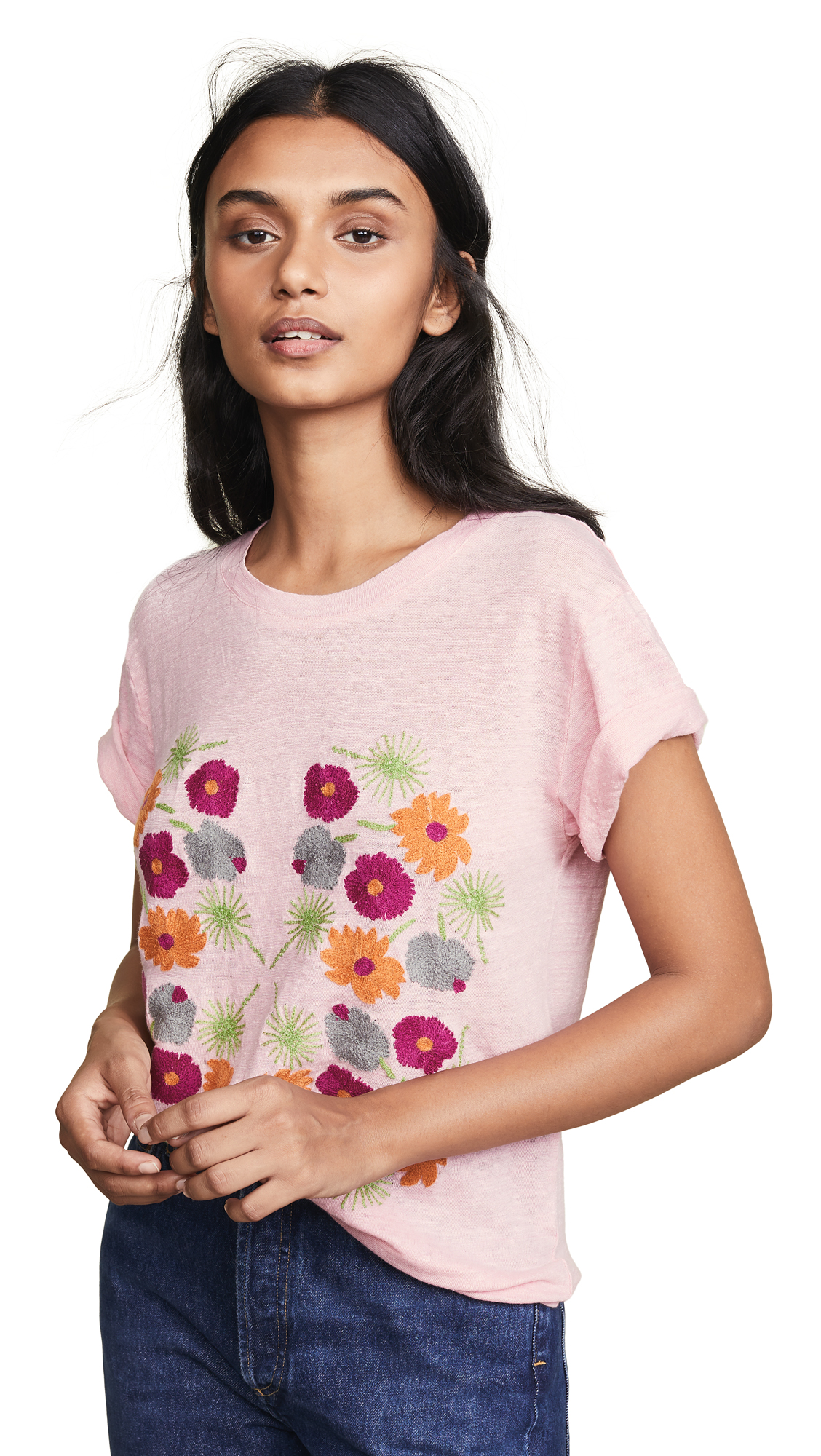 BANNER DAY Flower Print Tee in Pink