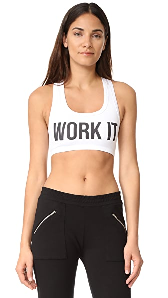 Barber Work It Sports Bra - White