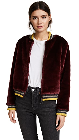 Barber Donica Bomber Jacket In Winter Wine