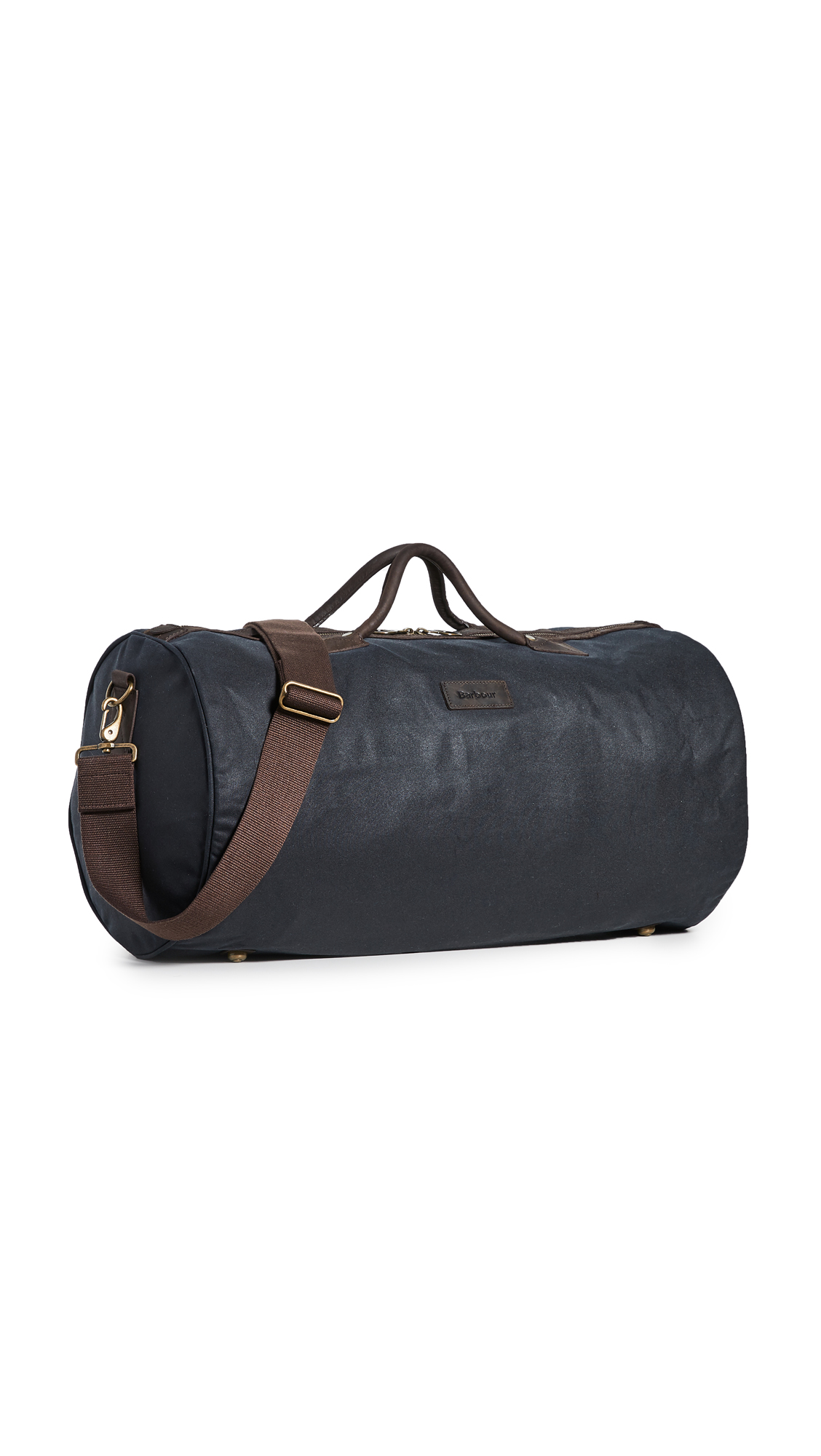 Barbour Wax Holdall Duffel Bag In Navy