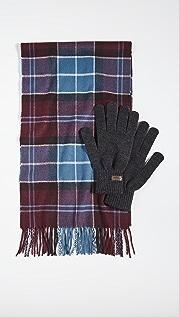 Barbour Barbour Tartan Scarf & Glove Set