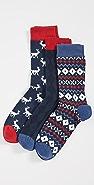 Barbour Barbour Stag Fairisle Sock Set