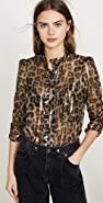 Ba&sh Leopard Blouse