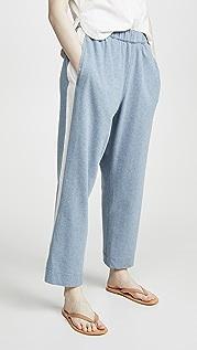 Bassike 帆布宽条纹运动裤