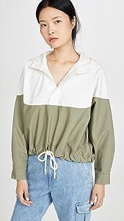 Bassike Контрастная куртка-анорак