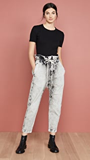 Bassike Denim Paperbag Pants