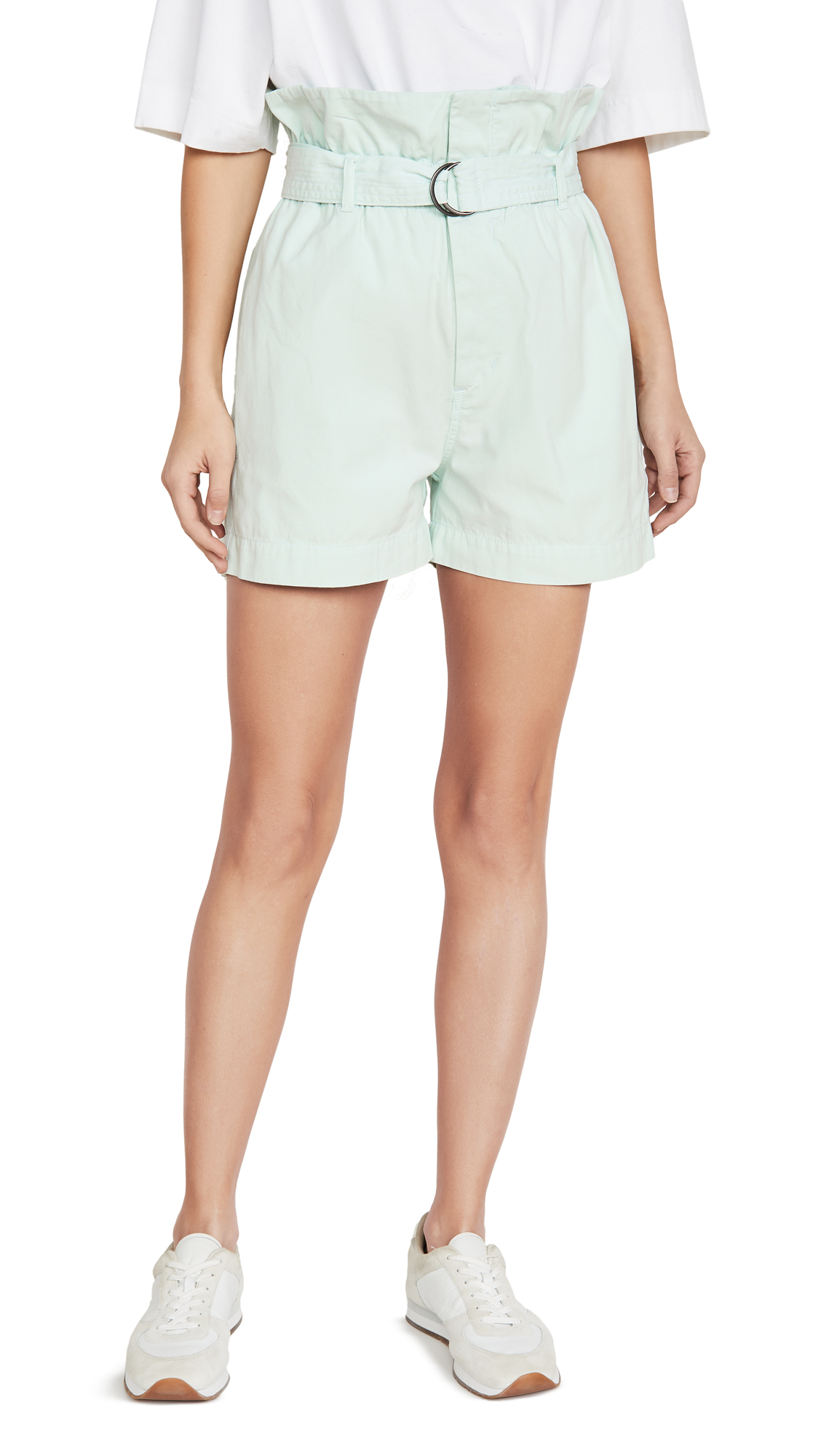 Buy Bassike online - photo of Bassike Canvas Belted Paper Bag Shorts