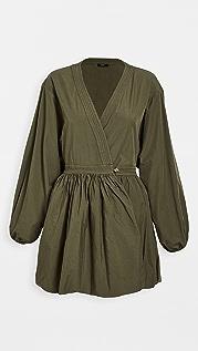 Bassike 棉质裹身连衣裙