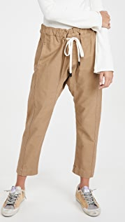 Bassike Brushed Cotton Relaxed Pants