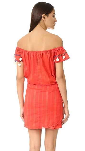 Basta Surf Marisol Off Shoulder Wrap Skirt Dress