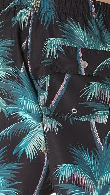 Bather Tropical Palm Swim Trunks