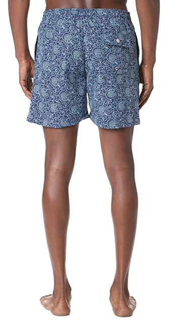 Bather Floral Swim Trunks