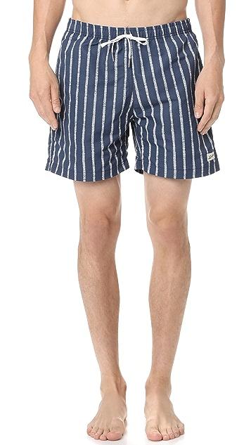 Bather Broken Stripes Swim Trunks
