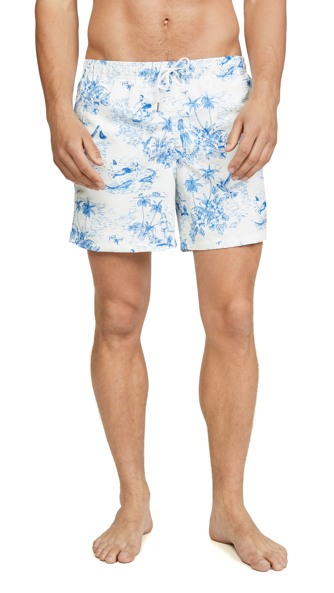 BATHER | Bather French Toille Trunks | Goxip