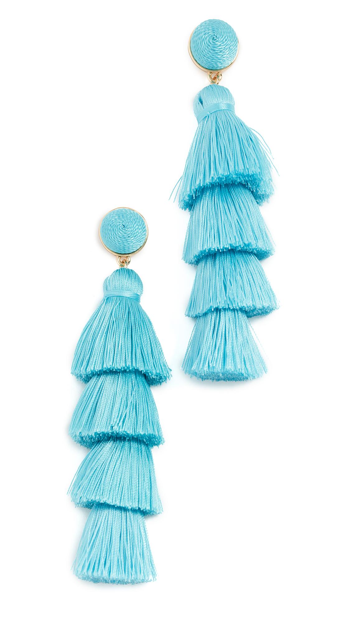 BaubleBar Tassel Earrings In Turquoise