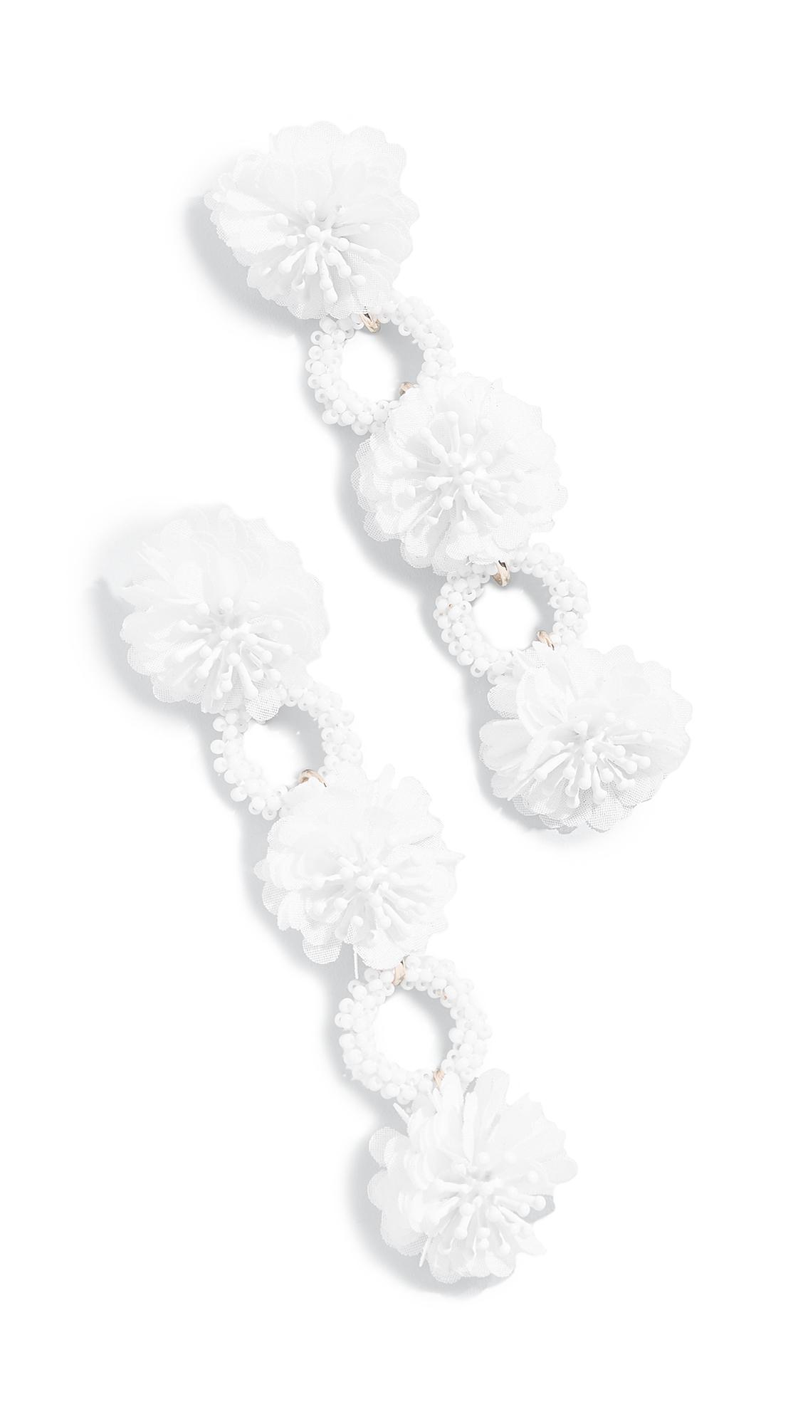 BaubleBar Three Flower Drop Beaded Earrings nATQGfiEk