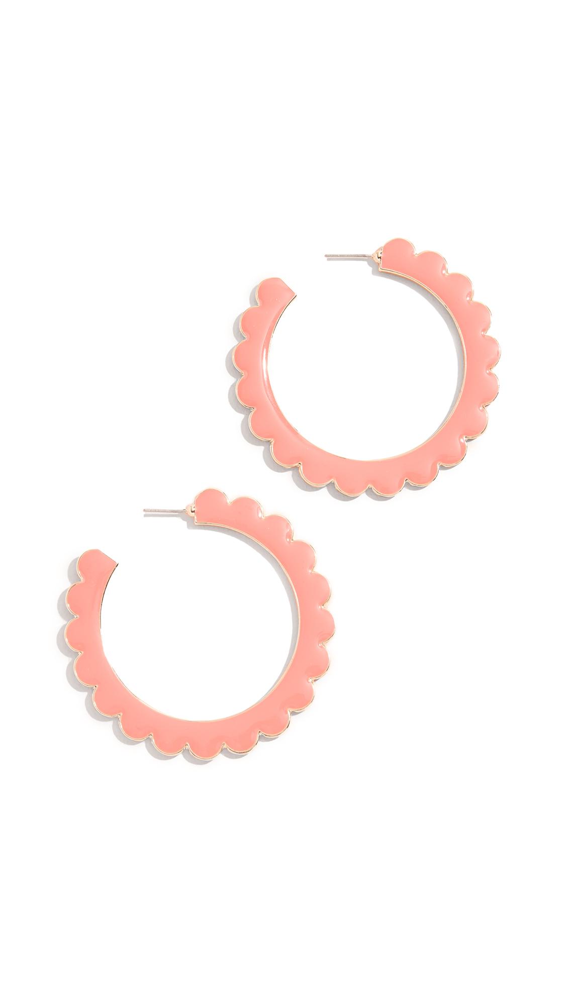 BaubleBar Desideria Hoop Earrings - Coral