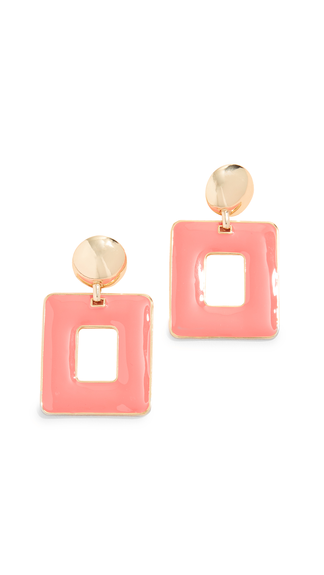 BaubleBar Erilyn Drop Earrings - Coral
