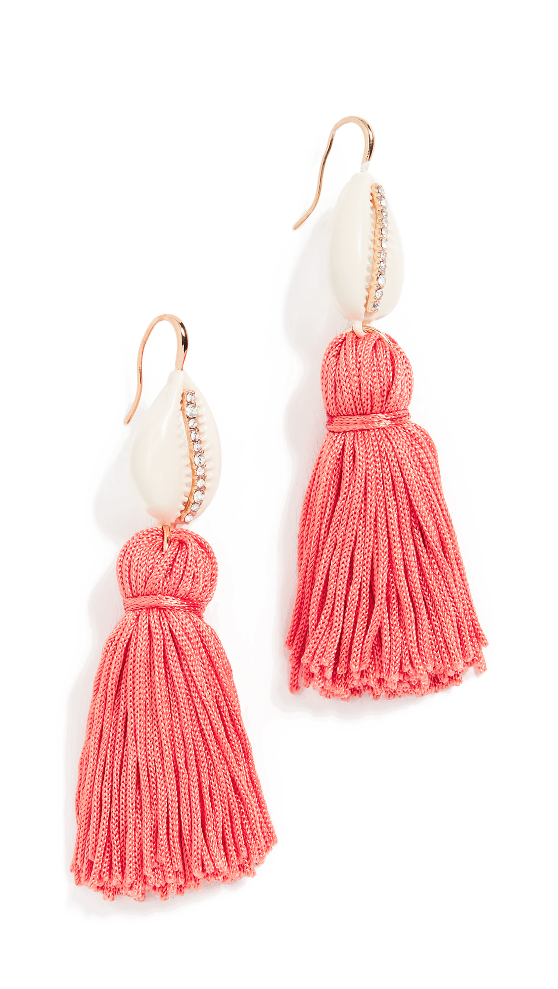 BaubleBar Tahiti Tassel Earrings - Coral