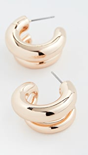 BaubleBar Havah Huggie Hoop Earrings