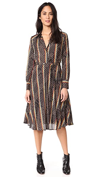 BAUM UND PFERDGARTEN Amelia Dress In Lasergrid