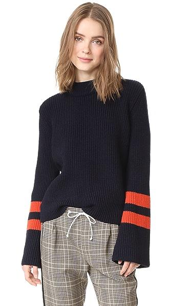 BAUM UND PFERDGARTEN Cybil Sweater - Navy/Orange