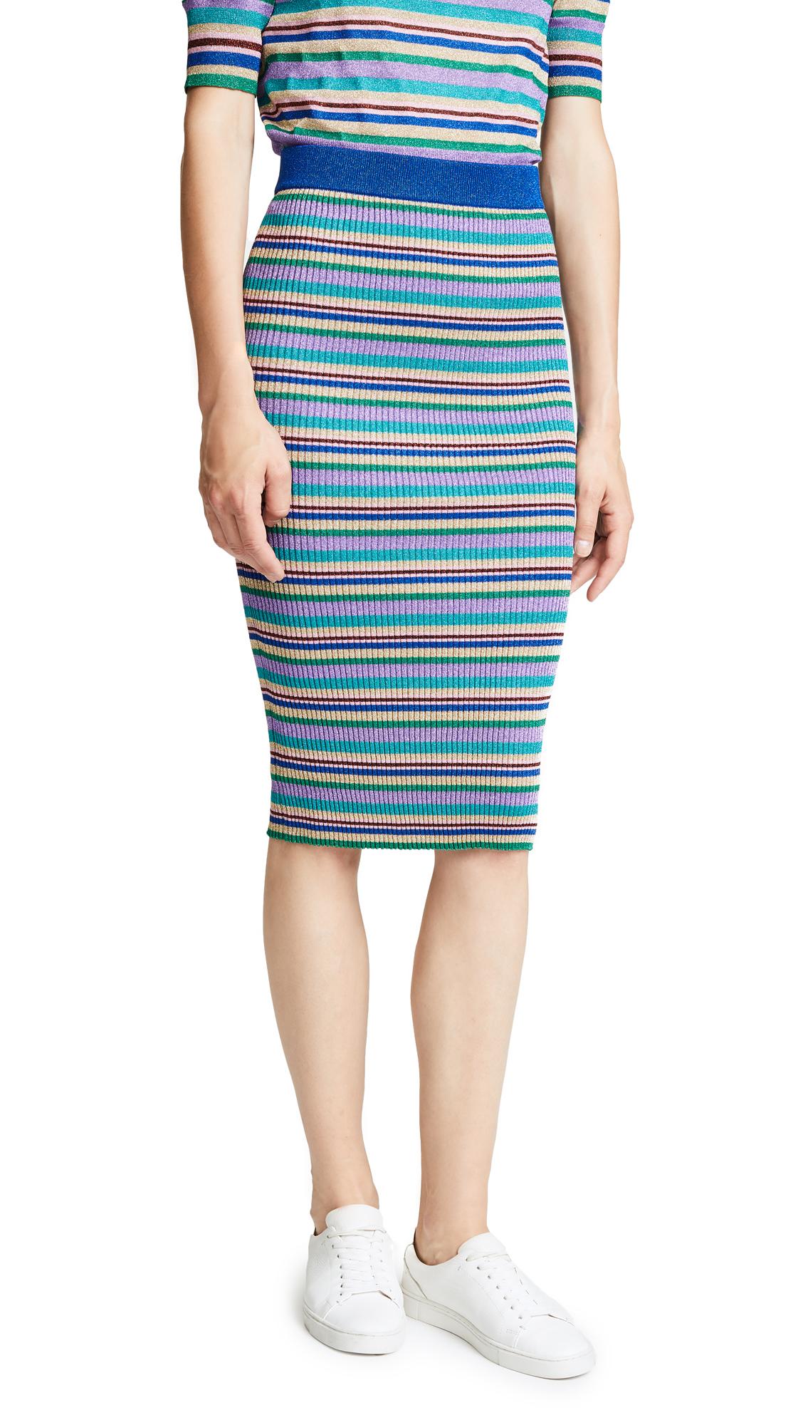 BAUM UND PFERDGARTEN Celia Skirt In Multistripe