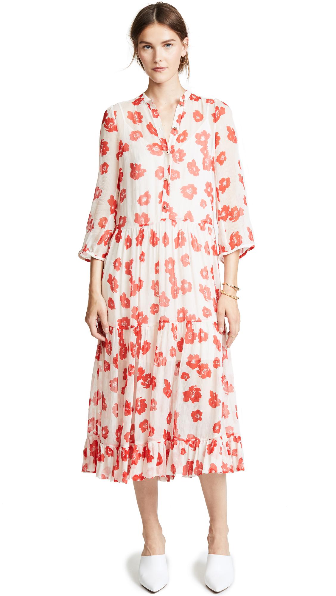 BAUM UND PFERDGARTEN Alexandrina Dress In Red Poppy