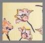 лимонный цветочный эскиз